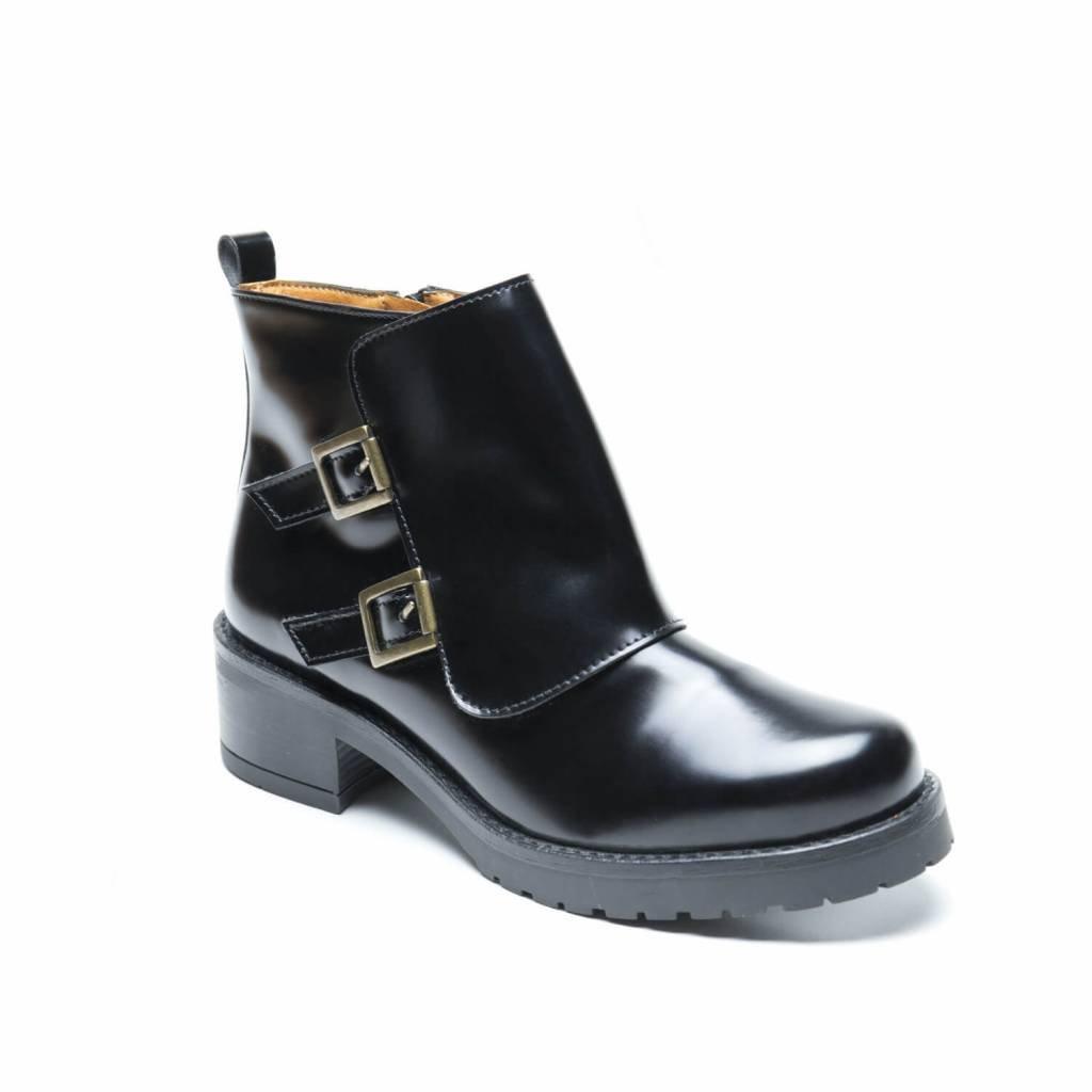 NAE vegan shoes Vegan Enkellaars Tessa Black