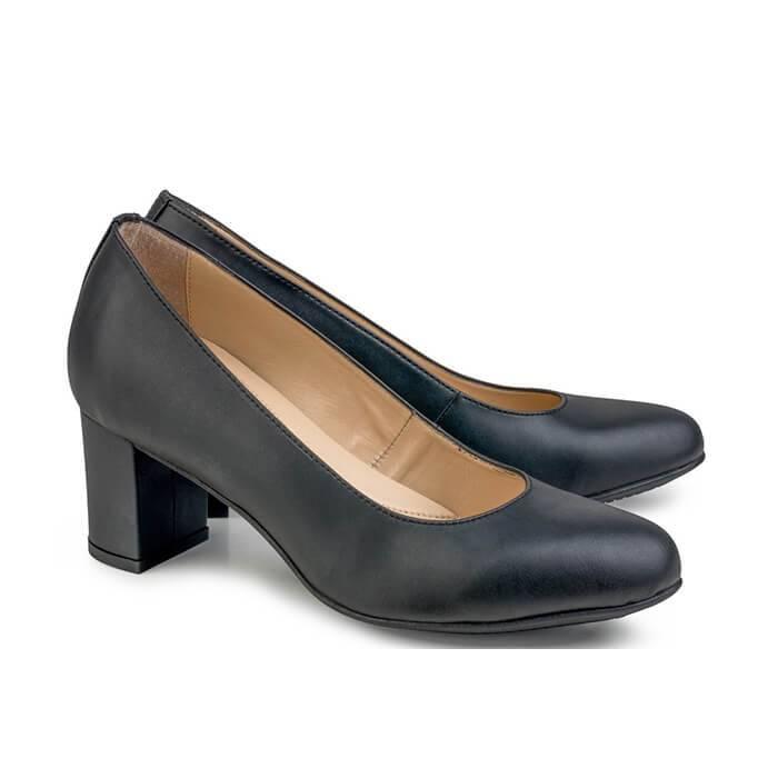 Eco Vegan Shoes Pumps Anna faux leather black