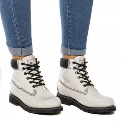 NAE vegan shoes Veterschoen Etna Airbag White