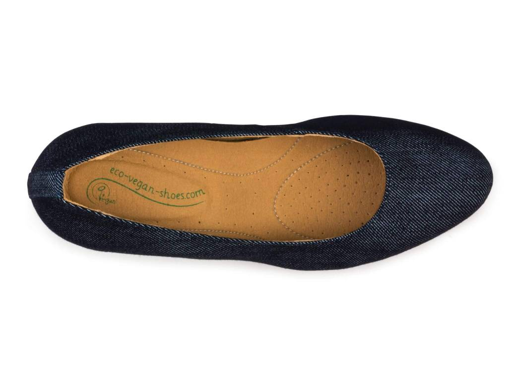 Eco Vegan Shoes Pumps Anna Blue Jeans