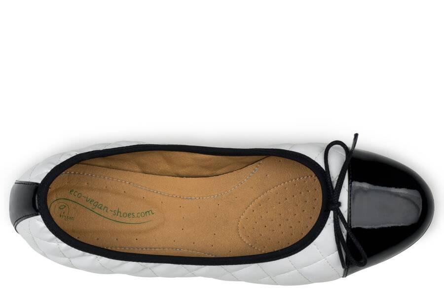 Eco Vegan Shoes Suzy White Black