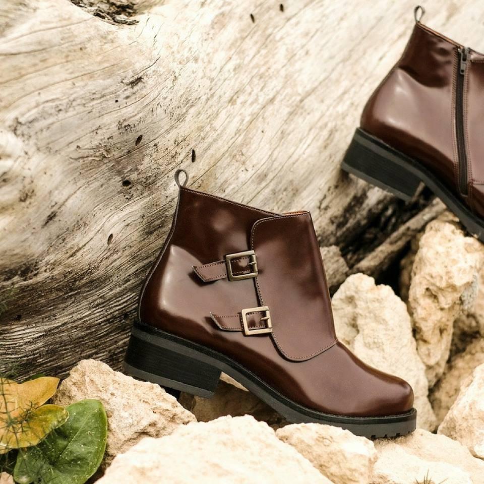 NAE vegan shoes Enkellaarsjes Tessa Brown