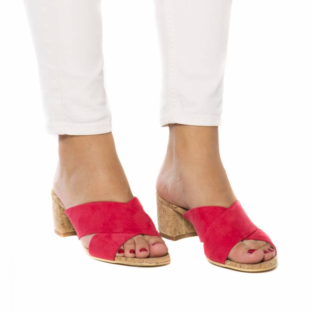NAE vegan shoes Kurk sandaal Anita roze