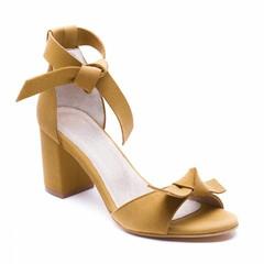 Sandaal met hak Estela geel