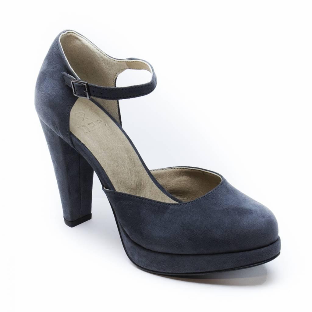 NAE vegan shoes Sandaal met hoge hak Erica grijs