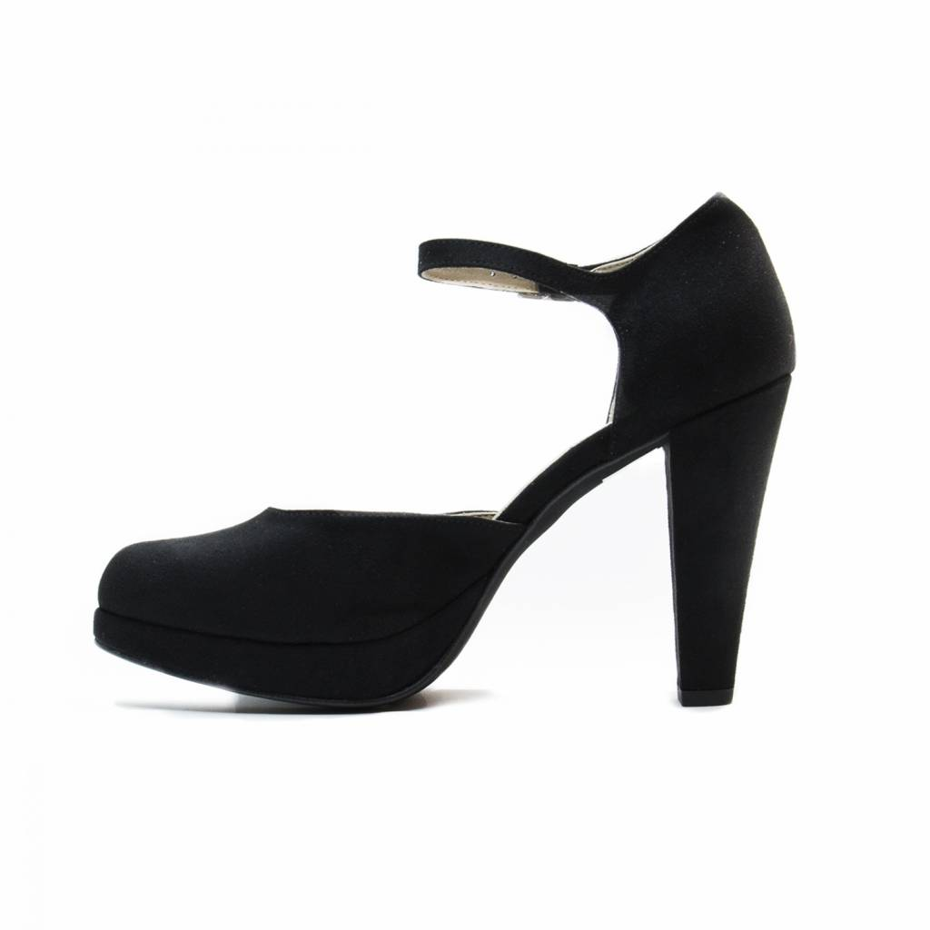 NAE vegan shoes Sandaal met hoge hak Erica zwart