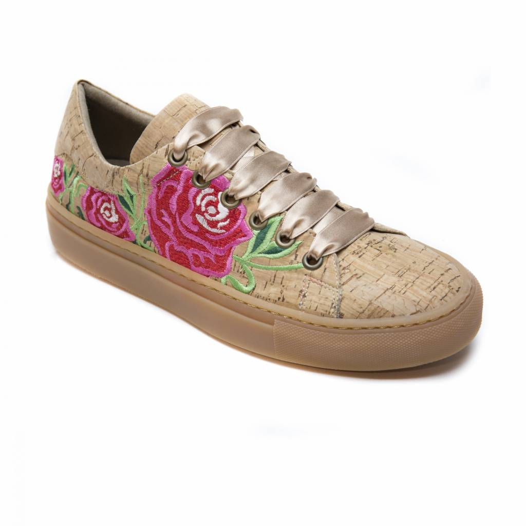 NAE vegan shoes Vegan bloemen sneaker kurk
