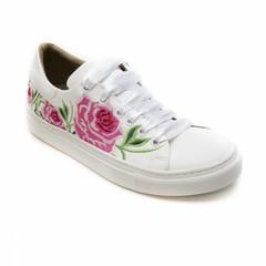 Vegan bloemen sneaker wit