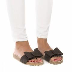 Sandaal van ananasleer en kurk Monik