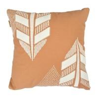 Desert leaf embroidery cushion (canvas/felt)