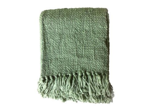 Pea green throw