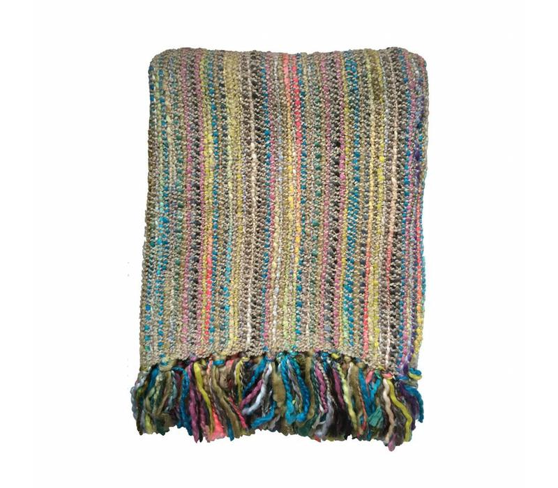 Beige fun throw