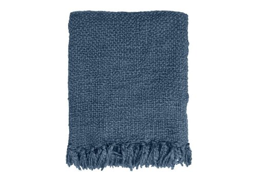 Indigo solid throw (from March 1)