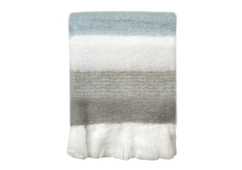 Light grey mohair throw