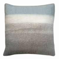 Light grey mohair cushion