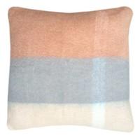Peach pink mohair cushion