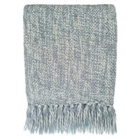 Sky grey throw