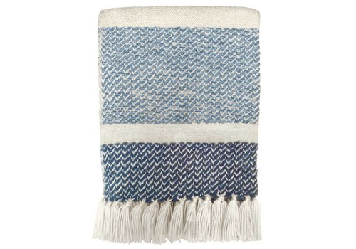 Berber grainy blue throw