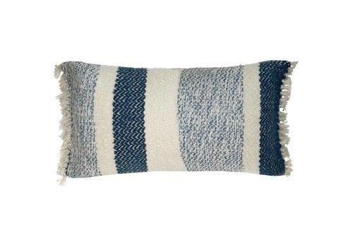 Berber grainy blue cushion (vanaf 23 maart)