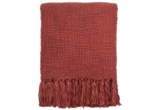Faded red throw