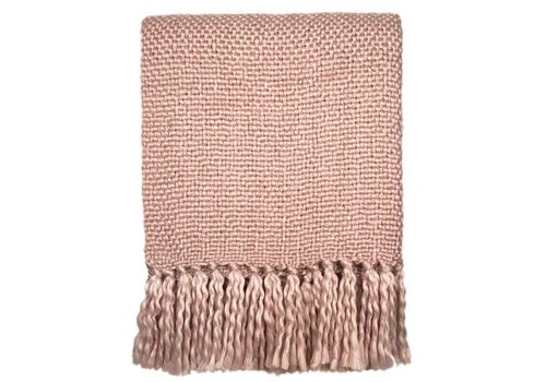Marble pink throw