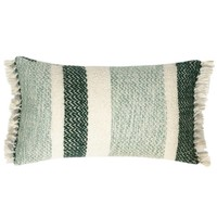 Berber grainy green cushion