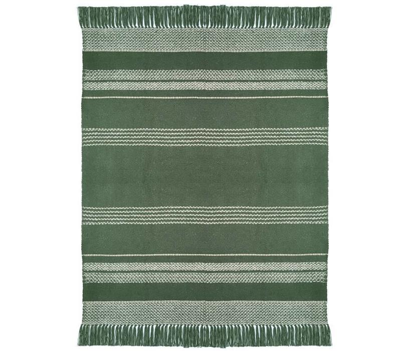Berber turtle green throw