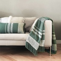 Berber turtle green cushion