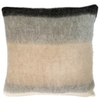 Black mohair cushion