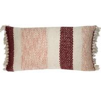 Berber grainy red cushion