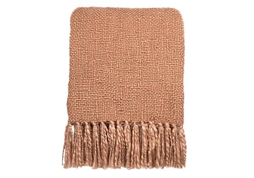 Brush pink throw