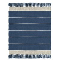 Berber dark blue throw