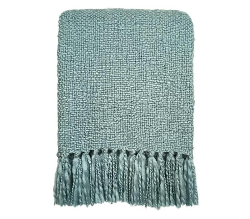 Surf blue throw