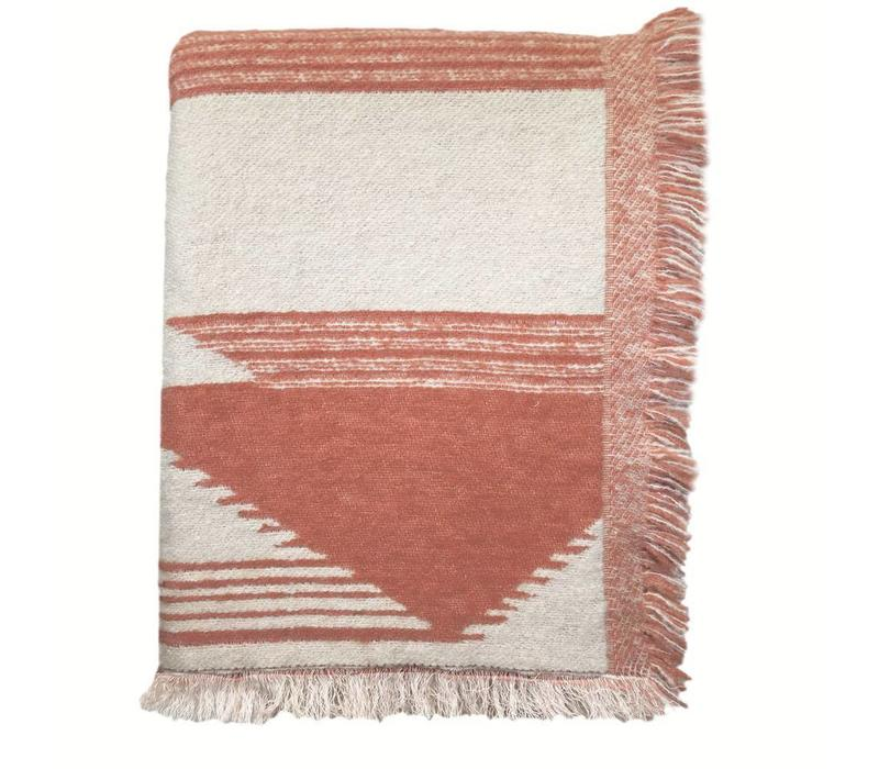 Nomad mahogany pink throw