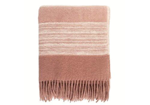 Sunrise pink wool throw