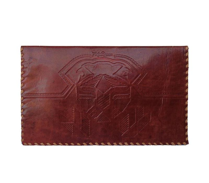 Leather travel document wallet
