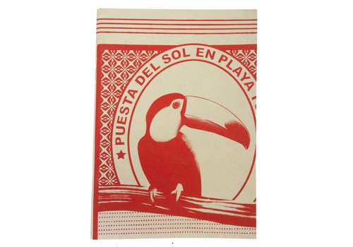 Tucan red notebook