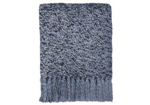 Velvet blue throw (NEW)