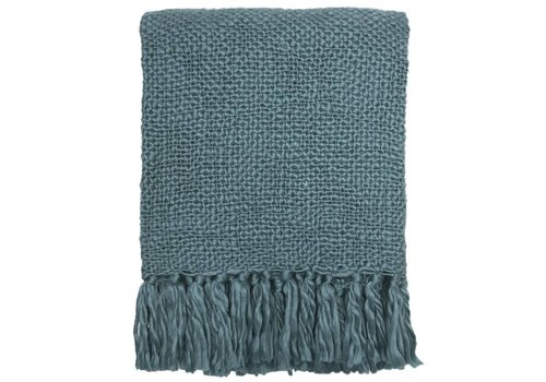 Lead blue solid throw (NEW)