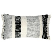 Berber grainy black cushion