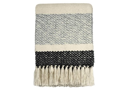 Berber grainy black throw (NEW)