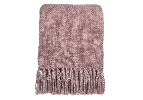 Ice pink solid throw (NEW)