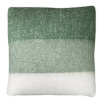 Leaf green mohair cushion