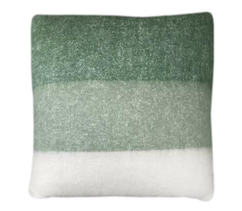 Leaf green mohair cushion