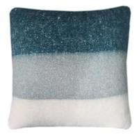 Dark lead blue mohair cushion