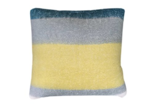 Dark lead blue mohair cushion (NEW)