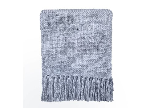 Lavender blue solid throw (NEW)