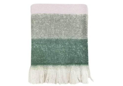 Leaf green mohair throw (NEW)