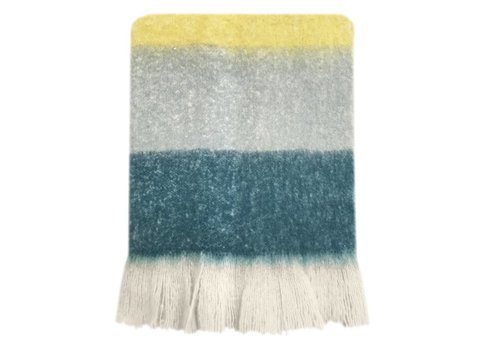 Dark lead blue mohair throw (NEW)