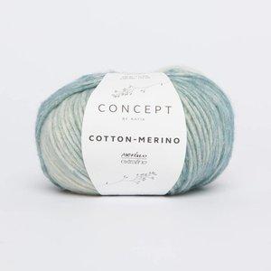 Cotton-Merino plus 301 Groen/blauw